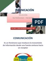 Comunicación Nutriólogo - Paciente