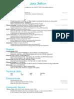 Joey Resume PDF