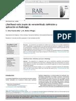 Likelihood Ratio (Razón de Verosimilitud) - Definición y Aplicación en Radiología