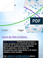 Capacitación Web of Science UNSA