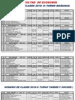 Horario de Clases 2018-II-economia