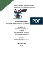 Monografia de Seleecion de Personal
