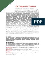 Glosario  en Patología