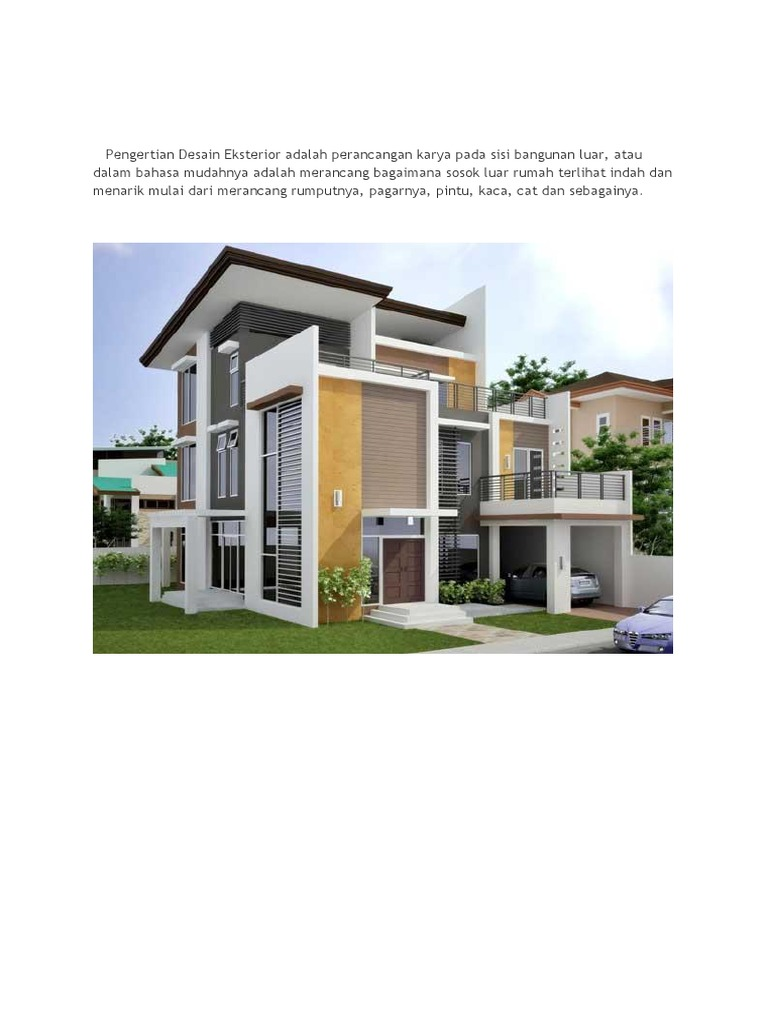 Pengertian Desain Eksterior Adalah Perancangan Karya Pada Sisi Bangunan Luar