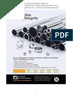 Stainless Steel Tube Stock Data