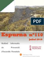 Butlletí informatiu de prevenció d'incendis forestals Espurna juliol 2018