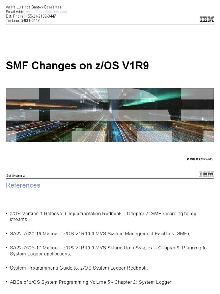 smf changes on zos v1r9 final computer hardware computing rh scribd com ibm z/os manual ibm manuals z/os