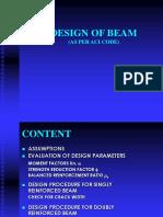 Design of Beam Aci 11-01-05