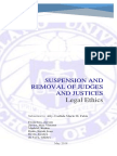 [REPORT] Suspension and Removal of Judges and Justices