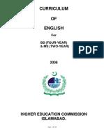 Curriculum of English