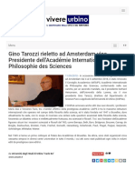 Gino Tarozzi rieletto Vice Presidente dell'AIPS - Vivere Urbino.it, 10 settembre 2018