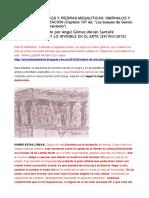 Puntos Geodésicos y Piedras Megalíticas. Omphalos y Marcas de Orientación
