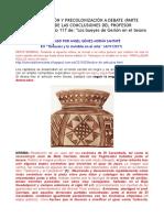 Protocolonización y Precolonización a Debate -Parte Primera- Análisis de Las Conclusiones Del Profesor Escacena