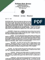 1993 - Federal Action Monitor - Enterprise Zones Etc