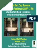 PCMAC Precast Bent Cap Systems for Seismic Regions