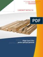 Alame Aplicatii Generale, Aliaje Cupru Zinc, Cupru Alama Bronz, Laromet Metal SA