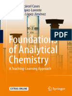 Foundations of Analytical Chemistry a Teaching-Learning Approach