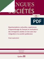 Amireault, V., & Lussier, D. (2008). Représentations culturelles, expériences d'apprentissage du français et motivations des immigrants.pdf