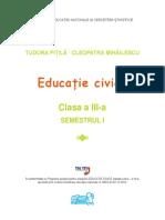 Educatie Civica clasa III a Semestrul 1 Editura Arthur