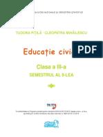 Educatie Civica Clasa III a Semestrul 2