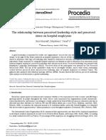 Baysak leadership stress hosítal.pdf