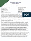 DC Delegation Letter on Pay Freeze