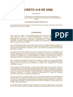Decreto 419 de 2008