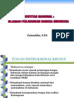 Identitas Nas Sejarah Perjuangan Bangsa Indonesia