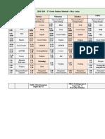 student schedule spreadsheet
