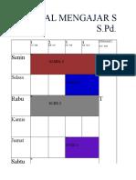 Jadwal Mengajar Tahun Pelajaran 2018-2019