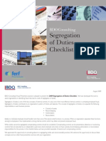 BDO Segregation of Duties Checklist