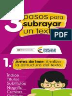 3 pasos para subrayar un texto.pptx
