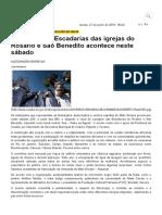 Prefeitura de Cuiabá _ Lavagem Das Escadarias Das Igrejas Do Rosário e São Benedito Acontece Neste Sábado