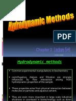 2-Hydrodynamic Methods (Sedimentation, Centrifugation and Ultracentrifugation
