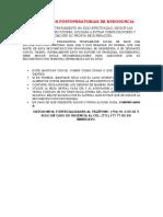 Indicaciones Postoperatorias de Endodoncia