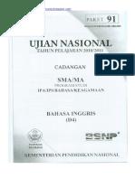 Naskah Soal UN Bahasa Inggris SMA 2011 (Paket 91).pdf