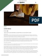 Lectio Divina - Comunidade Católica Shalom