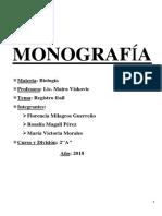 Monografia de Restos Fosiles