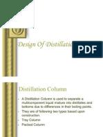 Distillation Column Design