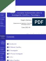 Introduccion a la Investigacion Cientıfica y Tecnologica