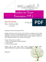 Guideline for Poster Presentation