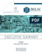 Plant Design Executive Summary