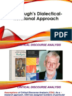 Fairclough's Dialectical- Relational Approach