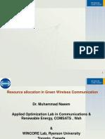 Naeem GreenCommunication 2014