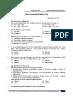 Subject Test Enviormental Engineering Qns