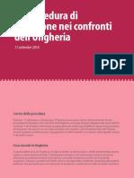 La procedura di infrazione nei confronti dell'Ungheria
