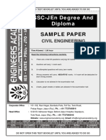 SSC JE Sample Paper 2018 (CE)