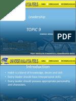 Chapter 9 -Leadership-Stephen Cover-JOHARI Window-Listening Skills.pptx