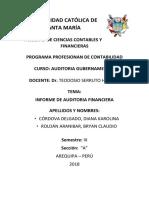 Auditoria Gubernamental - Informe de Auditoria Financiera