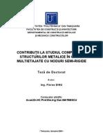 Strucuri Metalice-cadre Multietajate